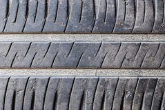 Closeup to Dirty Used Car Tyre Stock Images