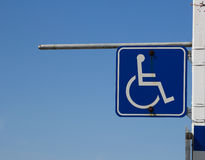 Closeup to a Disabled Sign Stock Photo