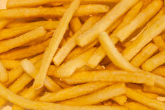 Closeup to French Fried, High Calories Junk Food, Background Stock Image