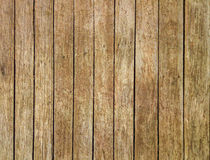 Closeup to Old Brown Vertical Wood Background/ Texture Royalty Free Stock Photos
