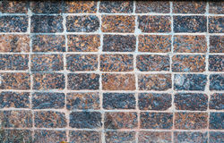 Closeup to Old Rough Brick Wall Background.  Stock Photography