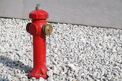 Closeup to red fire hydrant in Venice during the day Stock Photos