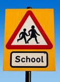 Closeup to a School Sign Stock Photo