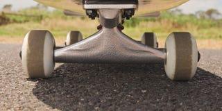 Closeup to skateboard trucks Stock Photo