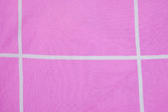 Closeup to White Line with Pink Fabric Background Royalty Free Stock Photography