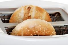 Closeup toasted bagel Stock Photo