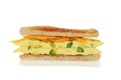 Closeup toasted western sandwich Royalty Free Stock Photos