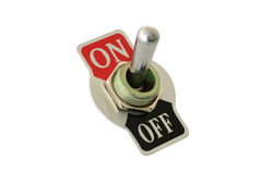 Closeup of toggle switch Stock Image