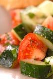 Closeup of a tomato and cucumber salad Stock Photo