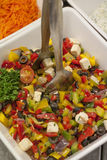 Closeup on tomatoes and peppers salad Stock Photo