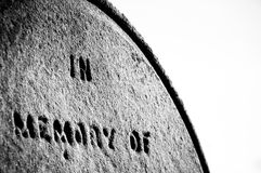 Closeup on Tomb stone Stock Photography