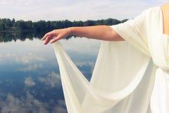 Closeup toned photo of beautiful bride royalty free stock photo