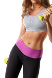 Closeup of toned woman stomach Stock Image