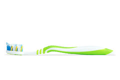 Closeup of a toothbrush with toothpaste Stock Photography