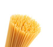 Closeup top bunch spaghetti on a white background Royalty Free Stock Photo