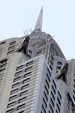 Closeup of the top of the Chrysler Building Stock Photo