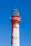 Closeup on top of Pakri lighthouse against blue sky. Paldiski, Estonia Stock Photography