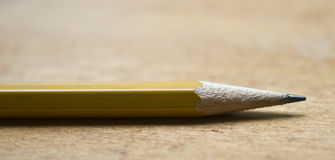 Closeup top of pencil Royalty Free Stock Images