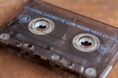 Top View Of A Vintage Cassette Tape. royalty free stock photo