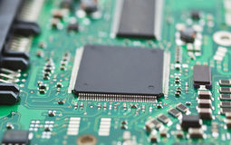 CloseUp topside of PCB Royalty Free Stock Image