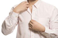 Closeup of torso of confident unknown business man. Royalty Free Stock Images