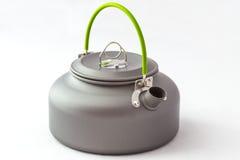 Closeup touristic teapot Royalty Free Stock Image