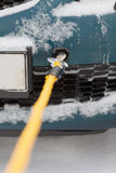 Closeup of towed car with towing rope Stock Image