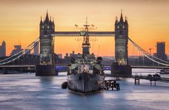 Closeup of the Tower Bridge in London Stock Image