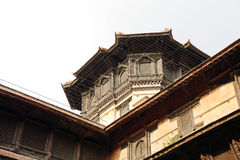 Closeup of a tower at one corner of  Nasal Chowk Courtyard Stock Image
