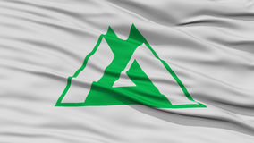 Closeup Toyama Japan Prefecture Flag Royalty Free Stock Photography