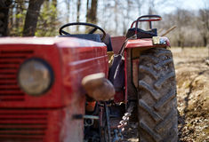Closeup of a tractor Stock Images