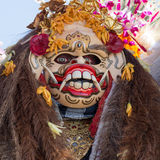 Closeup of traditional Balinese Barong mask in Indonesia Royalty Free Stock Photo