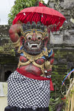Closeup of traditional Balinese God statue. Bali temple. Indonesia Royalty Free Stock Photo