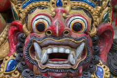 Closeup of traditional Balinese God statue. Bali temple. Indonesia Stock Photos