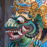 Closeup of traditional Balinese God statue in Central Bali temple Stock Photos