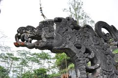 Closeup of traditional Balinese  statue Royalty Free Stock Photos