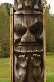 Closeup of traditional Gitxsan totem poles Royalty Free Stock Photography
