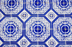 Closeup of Traditional portuguese tiles Stock Image
