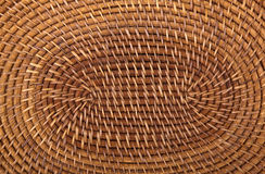 Closeup of Traditional Woven Grass Mat in Circular Pattern Stock Photo