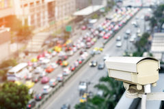 Closeup of traffic security camera. Royalty Free Stock Photography