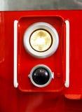 Closeup of train headlight Stock Images