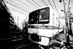 Closeup Train & tracks Stock Image