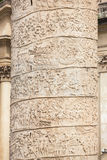 Closeup of Trajan's Column relief. Piazza Venezia Stock Photo