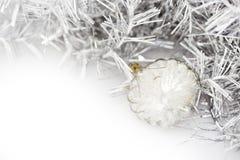 Closeup of transparent Christmas balls Royalty Free Stock Photo