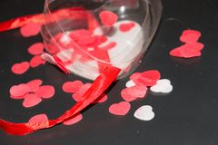 Closeup of a transparent plastic heart Royalty Free Stock Photo