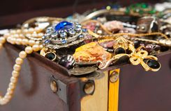 Closeup of Treasure chest Stock Photos
