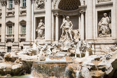Closeup of Trevi Fountain Royalty Free Stock Images