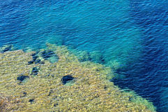 Closeup of a tropical blue sea water Stock Image