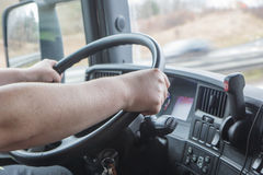 Closeup truck driving Stock Photos