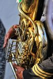 Closeup of a tuba Royalty Free Stock Image